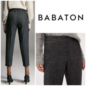 Babaton Conan Pants in Dark Grey Wool